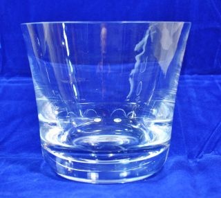 Beautiful Clear Glass Langham Vase or Ice Bucket Signed