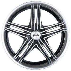 18 inch Mazzi Invasion Black Wheels Rims 5x110 Catera Cobalt SS HHR