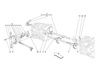 Maserati parts M138 coupe/spyder manual transmission outer control