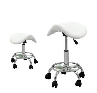 Hydraulic Adjustable Height Saddle Stool Chair Facial Salon Massage