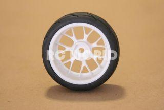 RC 1 10 Car Tires Wheels Rims Package Semi Slick Kyosho Tamiya HPI