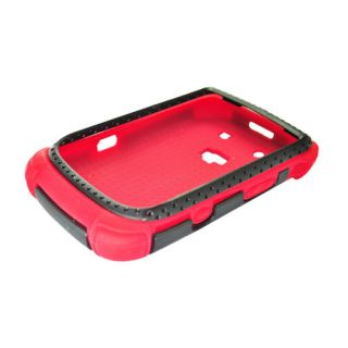 For Rim Blackberry Torch 9800 9810 Silicone Hard Dot TPU Case Red
