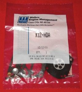 Walbro K12 HDA OEM Carburetor Rebuild Kit Fits Red Max, Tanaka, Echo