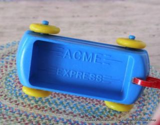 Acme Vintage Dollhouse Furniture RARE Hard Acme Express Wagon 3 4