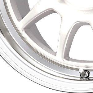New 16x7 4x100 Drag Dr 16 White Wheel Rim