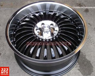 22 x9 5 Rims Verde V48 Black Machine Lip Ford Lincoln SUV Wheels