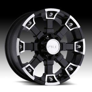 17 inch V Tec Brutal Black Wheels Rims Dodge RAM 1500