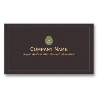 Green Leaf Business Card