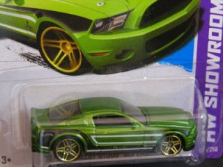 Hot Wheels 2013 155 10 Ford Shelby GT500 Supersnake Green HW Showroom