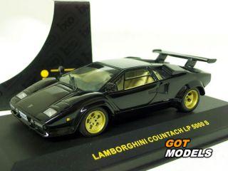 Lamborghini Countach LP5000S 1 43 Scale Model by IXO in Black CLC017