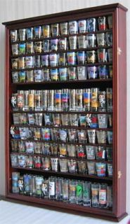LARGE, 144 Shot Glass Display Case Wall Holder Cabinet, 1 door for 100