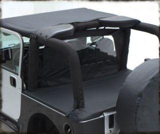 Smittybilt 761235 07 12 Jeep Wrangler 2dr Tonneau Cover Soft Top Black