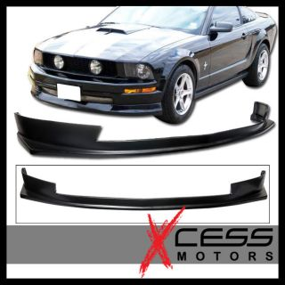05 09 Ford Mustang V8 Urethane Sports Black Front Bumper Lip Spoiler