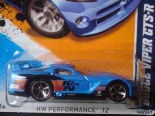 Hot Wheels 2012 HW Performance Series Blue K N Dodge Viper GTSR 146
