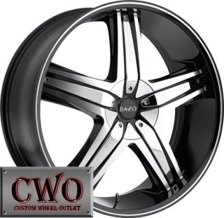 24 Black Bazo B501 Wheels Rims 6x135 6x139 7 6 Lug Expedition Tahoe