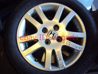 02 03 Honda Civic SI Alloy Aluminum Wheel Rim 15x6