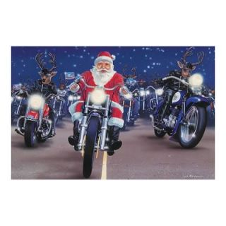 Paul Oxman Christmas Greeting Cards Santa and Reindeer on Motorcycles