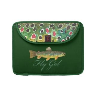 Fly Fishing Woman Sleeves For MacBook Pro