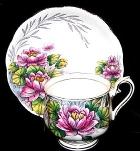 Royal Albert Water Lily Bone China Tea Cup and Saucer C 1935