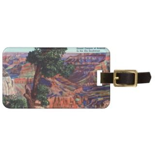 Vintage Image of Grand Canyon Landscape Luggage Tag