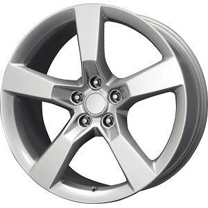 New 20x9 5x120 Replica Camaro SS Silver Wheels Rims