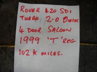 Rover 400 420 SDI 2 0 Diesel Fuel Injector KBAL70P x 1