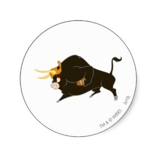 Toro the Bull Full Charge Round Stickers