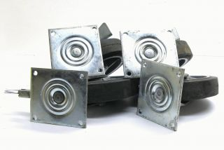of 4 Heavy Duty Commercial 8 Cart Wheels Colson 8 Solid Tires