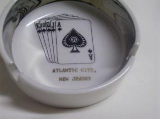 Vintage Atlantic City New Jersey Souvenir Cards Spades Ashtray
