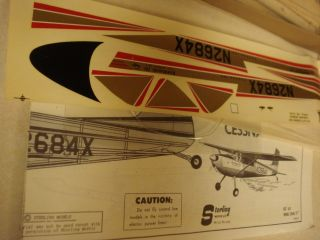 Sterling Cessna 180 Flying Balsa Wood Model Airplane Kit