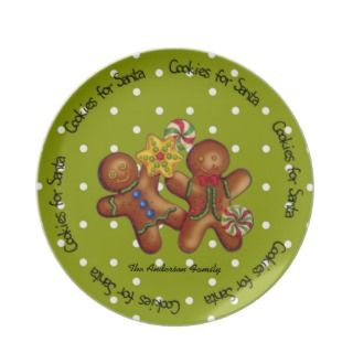 Cookies for Santa Christmas Plate