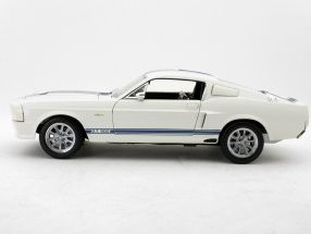 Ford Shelby GT500 Super Snake 1967 White with Blue Stripe 1 18
