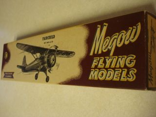 Megow Flying Models Fairchild Free Flight Model Airplane Kit