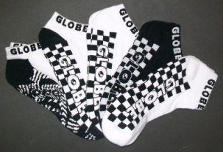 Globe Strobe Ankle Socks 5 PK Mens 7 11USA GS12 Australian Seller Fast