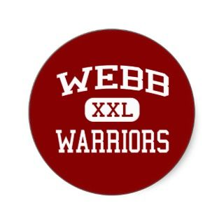 Webb   Warriors   High   Oxford North Carolina Round Sticker