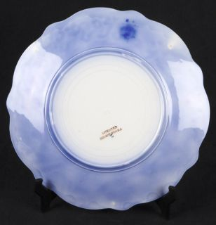 L497 Anique 2 Luncheon Plaes RARE Flow Blue WH Grindley Grace