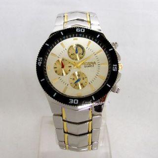 Trendy Mens Designer Stainless Steel Quartz Wrist Watch