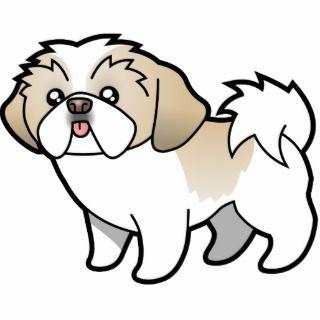 Cartoon Shih Tzu (silver parti puppy cut) Photo Sculptures