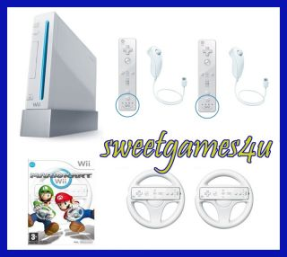 Nintendo White Wii Console 2 Player Bundle with Mario Kart for $229.99