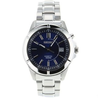 Brand New Mens Seiko SKA539 Quartz Stainless Steel Strap Analog Blue