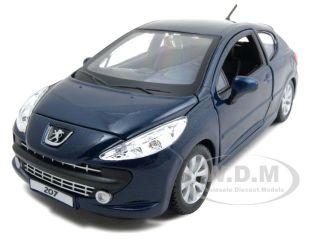 Peugeot 207 Dark Blue 1 24 Diecast Model Car