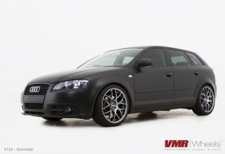 19x8 5 VMR 710 Staggered Gun Metal Wheel 5x112 Fit Audi A3 TT VW Golf
