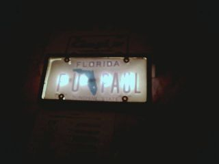 License Plate Frame Lighted Golf Cart Front