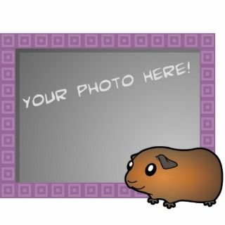 Cartoon Guinea Pig (brown) Photo Cut Outs