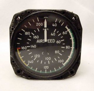 Edo Aire Air Speed Indicator 0 200 MPH Removed from Cessna 172