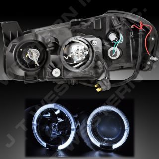 2000 2001 Nissan Maxima Dual Angel Eyes Halo Projector Headlights