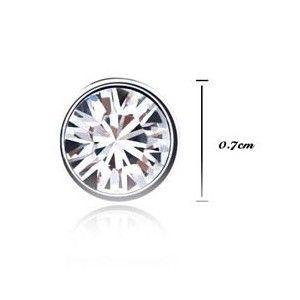 Genuine Swarovski Crystal 18K GP Studs Earrings 7mm