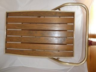 Vtg Mid Century Retro RID JID Folding Serving Bar Tea Cart 2 Teak Slat