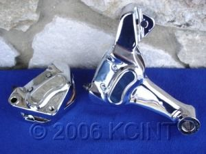 BRAKE CALIPER CHROME REAR FOR 2008 UP HARLEY TOURING BIKES