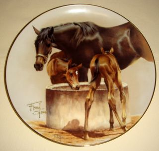 Fred Stone Water Trough Colts Plate Personally Signed